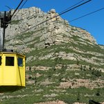 Cable car up to Montserrat