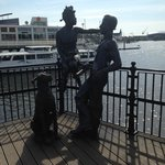 Statue in the corner of the dock