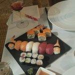 fuente sushi. 20 euros