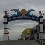 The archway to the Boardwalk