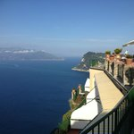 terrace looking over to Sorrento and the Italian mainland