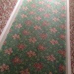 Hallway heading to room [tastless decor]