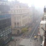 Vista desde la Venta del Hotel, nos toco Neblina pero muy lindo =)