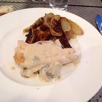 Patate e pollo con besciamella e funghi