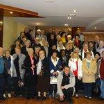 Photo du groupe Gilmir prises dans le hall de l'hôtel