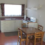 Kitchen dining area in the cottages