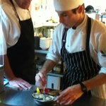 Commis Chef Geordie and Head Chef Darren Shead at work