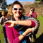 Suz with a 3.5 metre 15 kg python