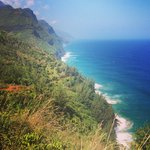A view of the Na Pali Coast from the Trail.
