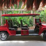 The HUMMER golf cart we were picked up in!