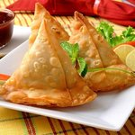 samosa (veg or meat)