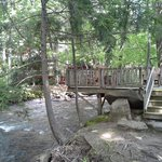 Deck overlooking Jonathan Creek