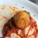 Panko Crusted Goat Cheese with marinara - Sorry we couldn't wait for a photo!