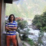 En el balcón de la habitación, gran vista del río Urubamba.