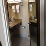 Bathroom located off bedroom