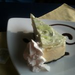 Key Lime Cheesecake with a chocolate crust