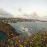 View from the top - Young Island and St Vincent