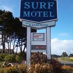 Entrance to Surf Motel & Gardens