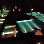 Piscina iluminaçao