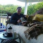 кофе на веранде