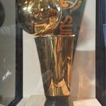 Seattle's NBA trophy is on display here.