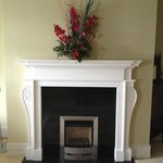 The fireplace in our sitting room