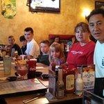 Our group enjoying dinner!