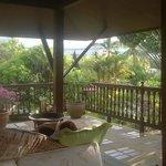 Our verandah - a small corner of it actually.