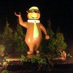 Happy Welcoming Yogi Bear