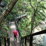 The hike to Hiji Falls