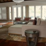 Living Room of the two bedroom villa
