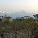 View of Himalayan Range in morning