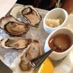 oysters. $3.50 each