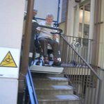 Stairlift at hotel