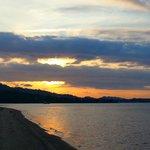 sun rise on the beach