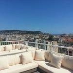 VIP Lounge on 9th floor: wonderful views on the city