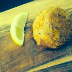 Our homemade Rissoles with Piper mash , Chorizo , bacon and fresh herbs