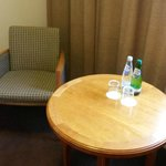 Sparkling water supplied daily in the room