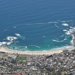 Camps Bay from the top of the mountain