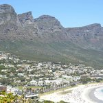 12 Apostles mountain range by Camps Bay