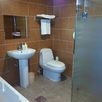 Bathroom very clean and convenience. Have sauna in shower room separated with bathtub