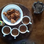 Late afternoon snacks with Hot masala Tea
