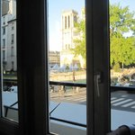 View from the bar looking at Notre Dame