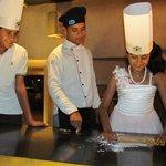 Tanishka making Pizza