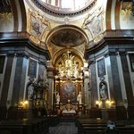 Prague interier church of St. Francis of Assisi