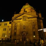 Prague Church St. Francis of Assisi in night