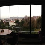 Breakfast served at Top-floor, the view across Istanbul.