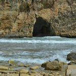 Inland Sea cave leading to the sea outside