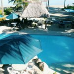 piscine vue de la terrasse