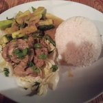 Lemongrass chicken with white Jasmine rice